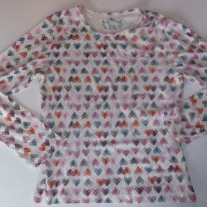 The Children's Place Shirt w Hearts Girl  Large